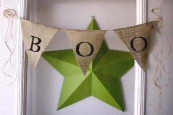 Burlap Boo banner from Everyday Chaos.